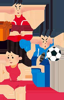 スポーツする子供のイラスト